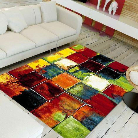 240x340 - UN AMOUR DE TAPIS - BELO 2- - Grand Tapis Moderne Design tapis salon et Salle a Manger - Tapis multicolor - Plusieur dimensions disponibles