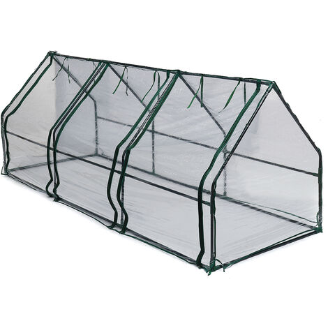 240x90x90cm Large Garden Transparent PVC Tunnel Greenhouse Grow Plant House Cover Iron