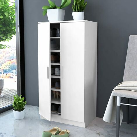 Shoe Cabinet 7 Shelves White