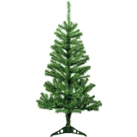 245005 Árbol de Navidad 150H cm con 200 ramas plegables en PVC abeto artificial