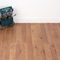 2.47m2 - Heavy Domestic Use Kitchen/Bedroom/Hallway Laminate Flooring - Honey Oak Wood Effect 7mm