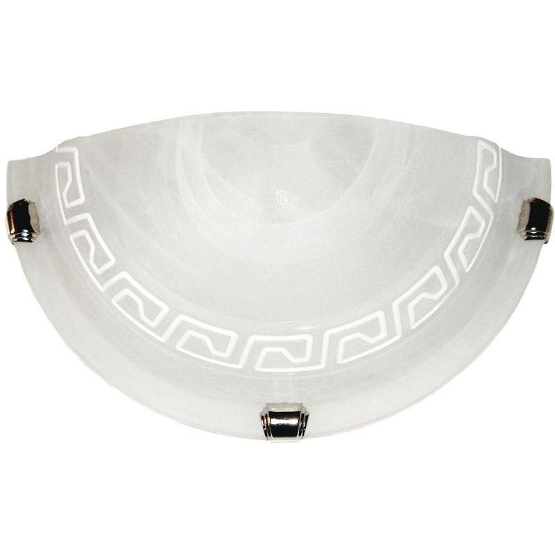 248 00412 applique dal design classico bianca anticato con greca