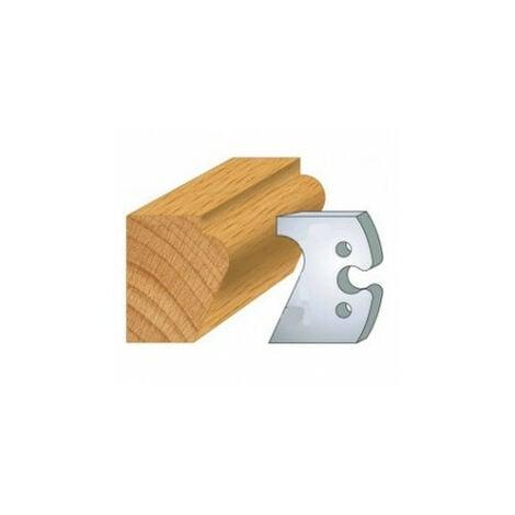 248 : jeu de 2 fers 50 mm nez de marche pour porte outils 50 mm