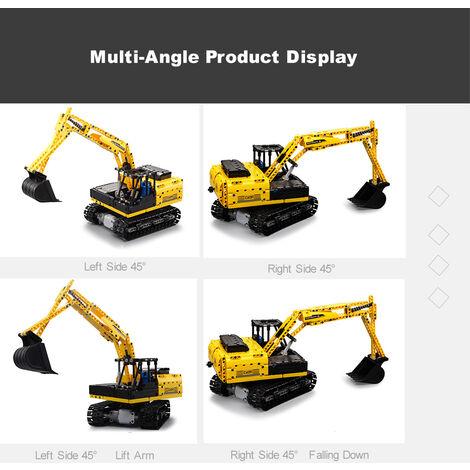2.4Ghz 4 Roues Motrices Blocs De Construction De Chenilles Digger Pelle Tracteur Vehicule Bricolage Jouet Cadeau De Noel