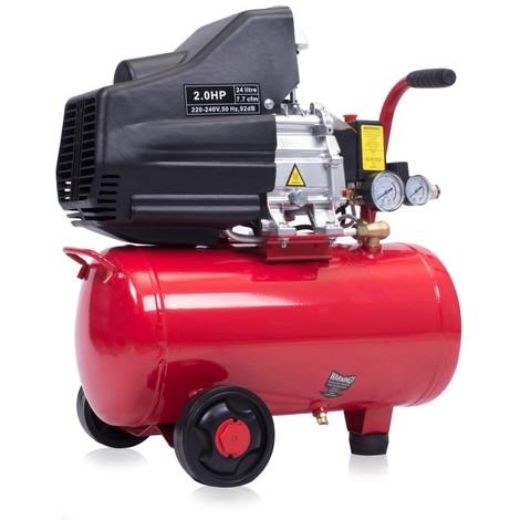 24L Air compressor - 2.0HP 7.7CFM 116PSI 1.5kW