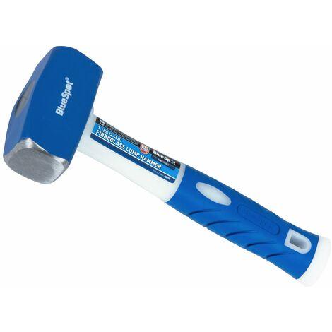 2.4lb Club Lump Hammer Hardened Steel Head Fibreglass Grip Handle 1.1Kg 01538