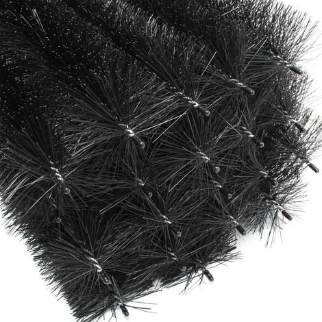24m Cepillo para canalones 120 cm Ø 8 cm protección contra hojas y animales 20 unidades