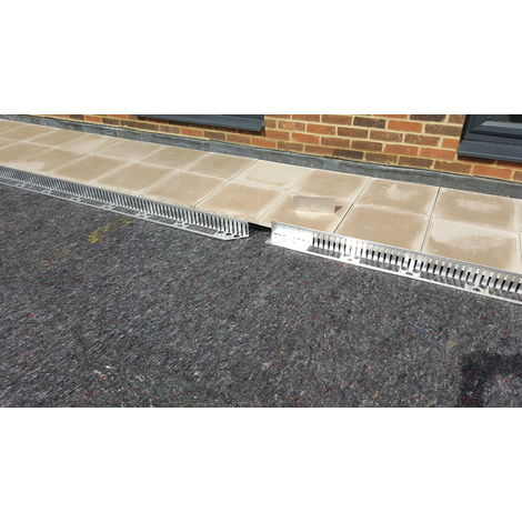 2.4m long x 100mm Edging Bar for Green Roof price per length