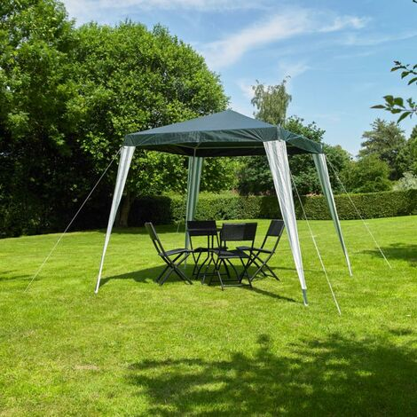 2.4m x 2.4m (8ft x 8ft) Gazebo Party Tent in Green & White