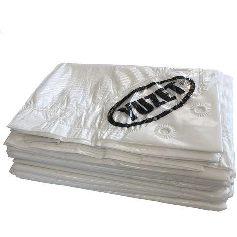 2.4m x 3m WHITE XT TARPAULIN heavy duty Tarp Ground sheet Ribbed strength