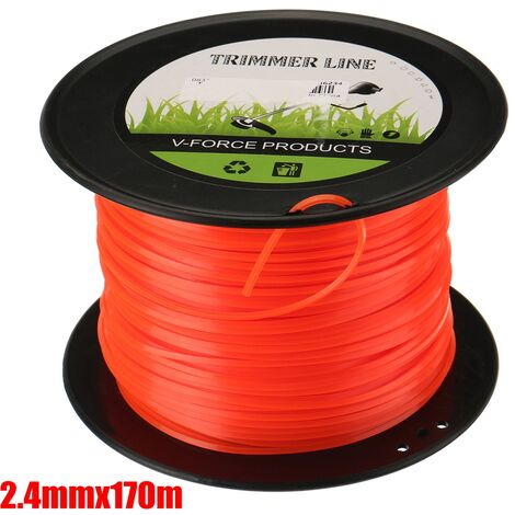 2.4mm Heavy Duty Nylon Square Trimmer Line Brushcutter Rope Square 170m