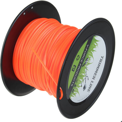 2.4mm Strong Trimmer Strimmer Brushcutter Nylon Cord Line Wire String Rope Orange 100M