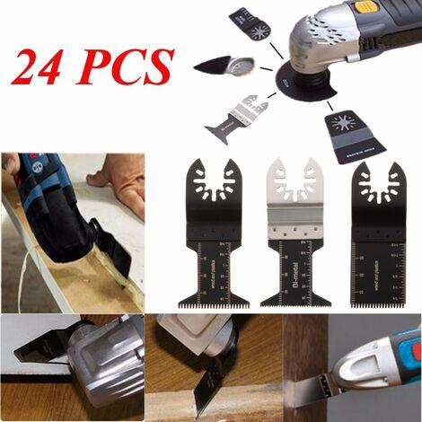 24PCS Semi-circular Saw Blade Carpentry Multifunction Oscillating Tool for FEIN BOSCH DREMEL RIDGID RYOBI MAKITA SKIL Mohoo