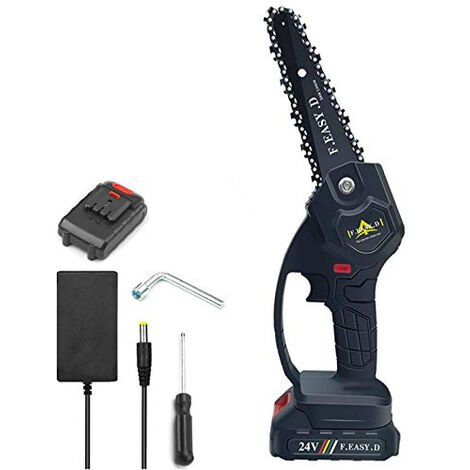 """main image of """"24V 12.7CM mini electric chain saw, mini electric hand chainsaw with 1 batteries, 1 charge"""""""