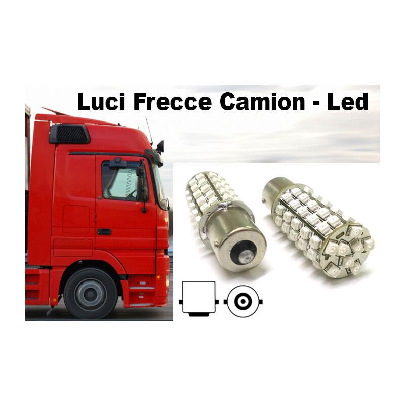 LEDLUX LS8168 24V Lampada Led BA15S 1156 S25 68 Smd Arancione Luci Frecce Camion