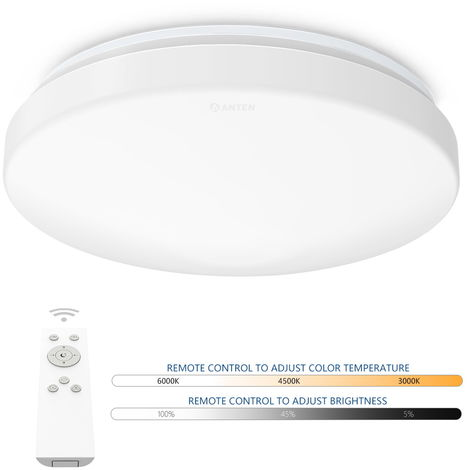 24W LED Ceiling Light with Radar Motion IP20 1920LM Dimmable Flush Mount Lighting for Kitchen Bathroom