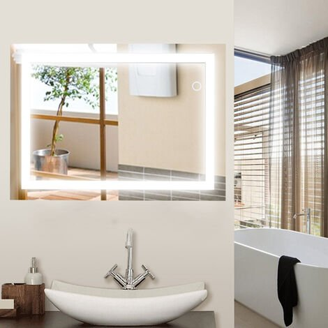 24W LED Mirror Lamp Bathroom Lighting Mirror - 600x800mm Cold White 6500K
