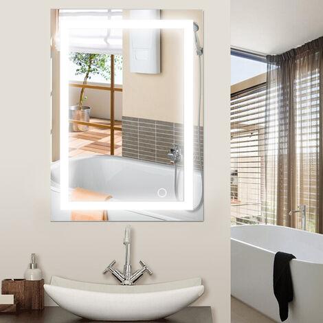 24W Miroir LED Lampe de Miroir Éclairage Salle de Bain - 600x800mm Blanc froid 6500K