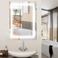 24W Miroir LED Lampe De Miroir Éclairage Salle De Bain   600x800mm Blanc  Froid 6500K