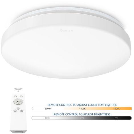 24W Plafón LED de Techo Regulable en Intensidad y Cambio de Temperatura de Color con Control Remoto (Ø275 x 95 mm)