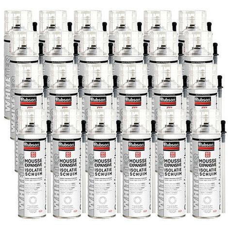 24x aerosols mousse PU expansive 500ml WhiteTEQ