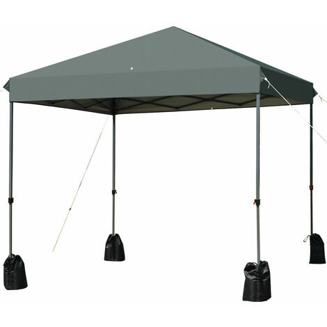 2.4x2.4m Folding Pop UP Canopy Tent Gazebo Marquee Garden Patio Outdoor shelter