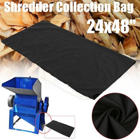 "main image of ""24X48 '' Black Wood Leaf Shredder Shredder Bag Collecting Crafts Mtd Hasaki"""