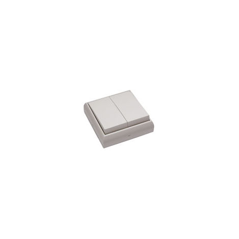 Interruptor - conmutador doble empotrable y superficie blanco BF-25 (Bricofontini 25 302 05 2)