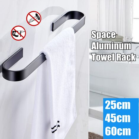 25/45/60cm Porte-serviettes Acier Inoxydable Rotatif Salle de bains Cuisine Mural Poli45cm