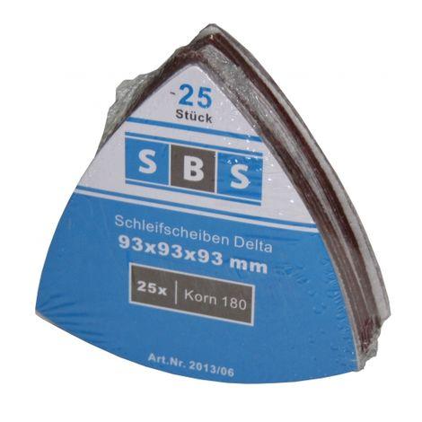 125 Stück Klett-Schleifdreiecke 93x93x93 mm Korn 120 für Delta-Schleifer 6-Loch