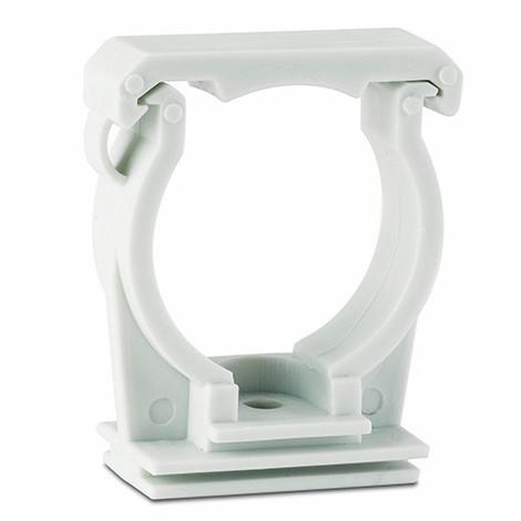 25 colliers en plastique guide gris simple préfilet M6 D. 32 mm - ABGUG32 - Index - Gris -