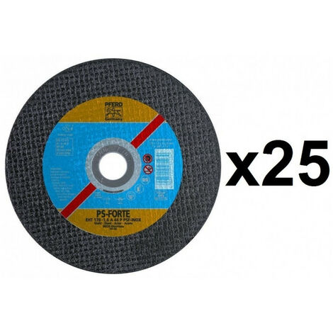 25 Disques à tronçonner 125mm PS-FORTE A plat Inox PFERD - plusieurs modèles disponibles