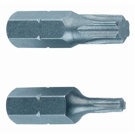 25 embouts de vissage T10 x L. 25 x Q. 6,35 mm - PUTO010 - Index