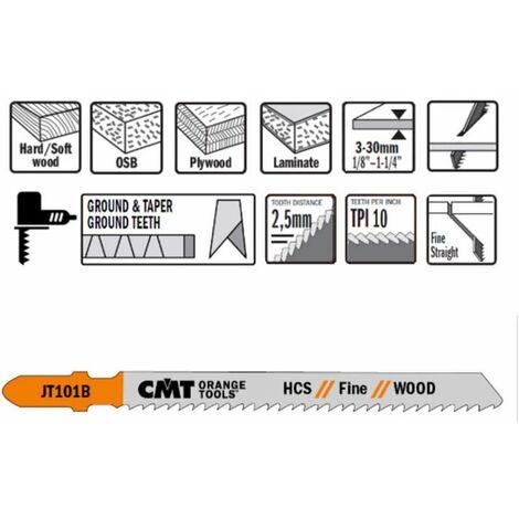 """main image of """"25 hojas de sierra de calar de HCS para madera recta y fina 100x2.5x10tpi (JT101B) CMT"""""""