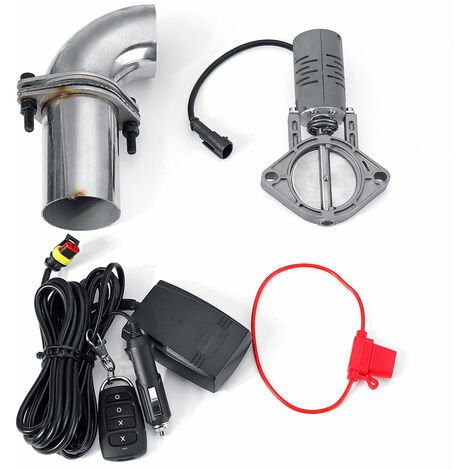2.5 Inch System Remote Exhaust Catback Downpipe Cutout Electic Cut Valve Out With Remote Control