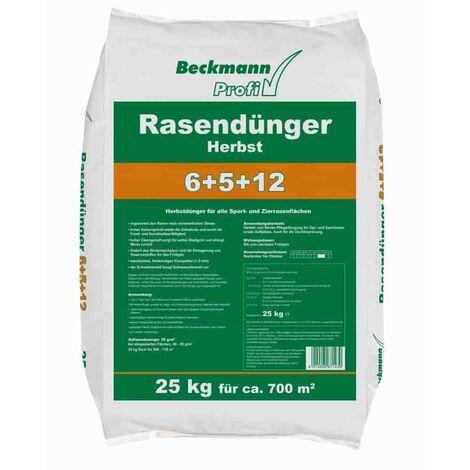 25 kg Rasendünger Herbst Beckmann NPK-6+5+12 f.ca. 700m²