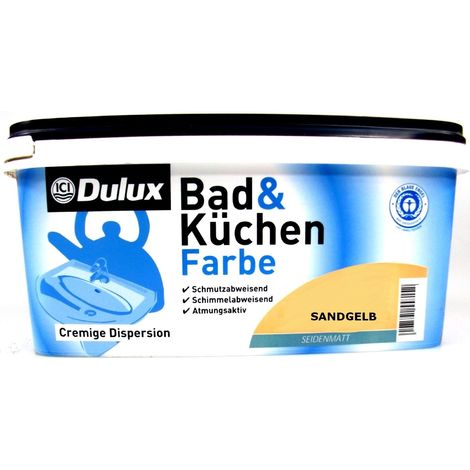 2,5 Liter Dulux Bad- und Küchenfarbe sandgelb
