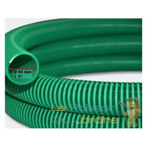 25 mètres tuyau 50 mm PVC résistant vert et lisse pour bassin - Vert