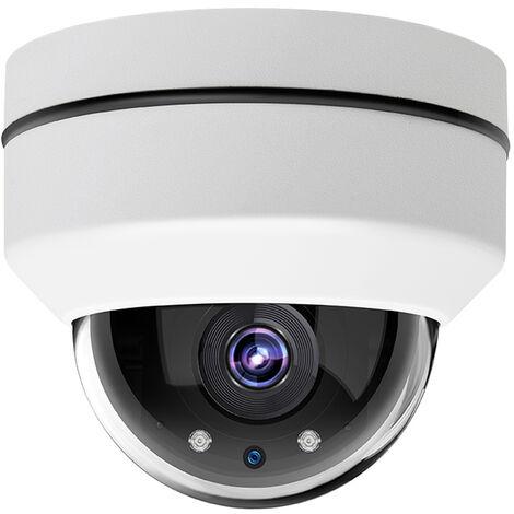 """2.5"""" Mini Hd 1080P Exterieure 2.0Mp Ptz Camera Fixe Mise Au Point, Camera Dome Ip Poe Exterieur Securite Ptz Avec Zoom Optique 3X, Ir Vision Nocturne"""