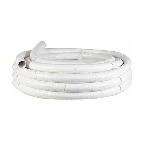 25 MT Tubo Desagüe Flexible 16x20 Blanco HP12110116