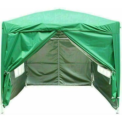 2.5 x 2.5m Garden Pop Up Gazebo Marquee Patio Canopy Wedding Party Tent- Green
