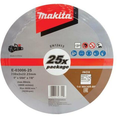 "25 x Makita E-03006 Cutting Cut Off Wheels 230mm 9"" For DCE090 Disc Cutter"