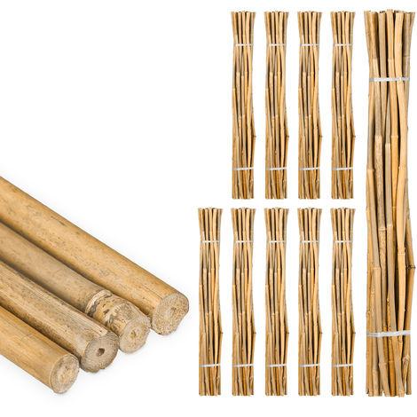250 Varas de Bambú, Tutores para Plantas, Bambú Natural, 120 cm