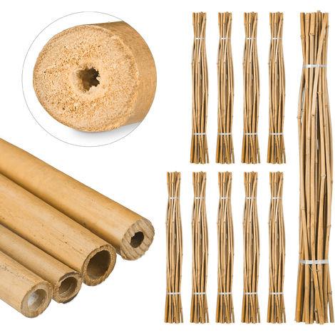 250 Varas de Bambú, Tutores para Plantas, Bambú Natural, 150 cm