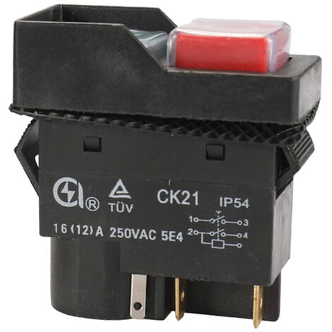 """main image of """"250-Voltage Universal CK21B/250V Safety Switch Emergency Stop S-afe Cut Off Killer Waterproof and Dustproof Switches Electromagnetic Switch for Grinding Machine"""""""