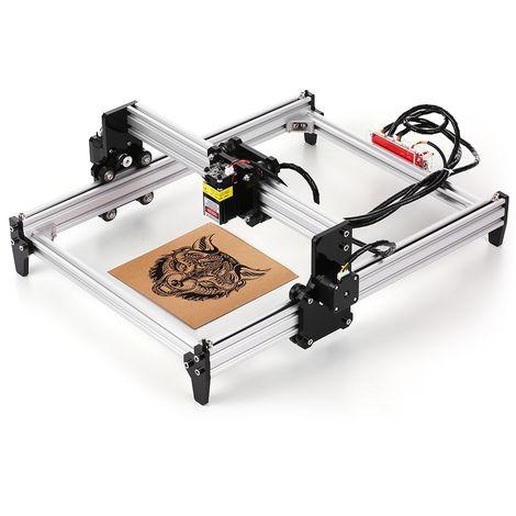 2500mW de escritorio DIY Maquina de grabado laser, impresora laser CNC grabador Carver, 2500mW