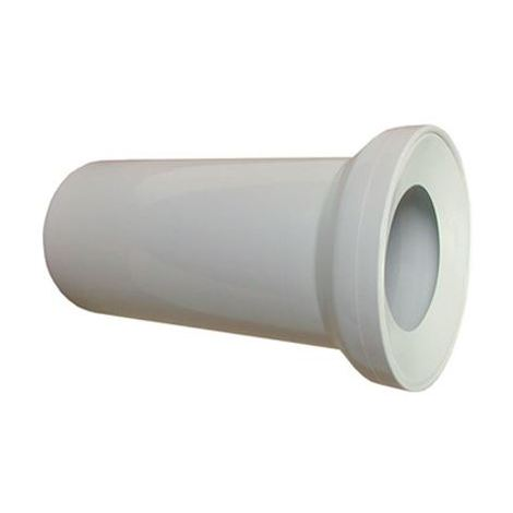 250mm long White WC Toilet Waste Water Straight Pan Connector Soil Pipe 110mm