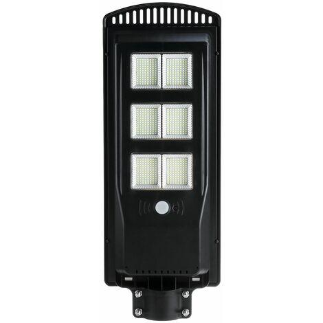 250W 576 LED Lampadaires muraux à énergie solaire Impermeable IP67 Contr?le de la Lumiere de la lampe + Telecommande + éclairage de jardin Exterieur à induction du corps humain (avec Telecommande)