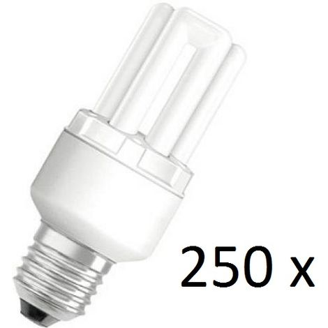 250x Osram Dulux Star Superstar 8W/825 220-240V E27 Stick Lamp Light Bulb