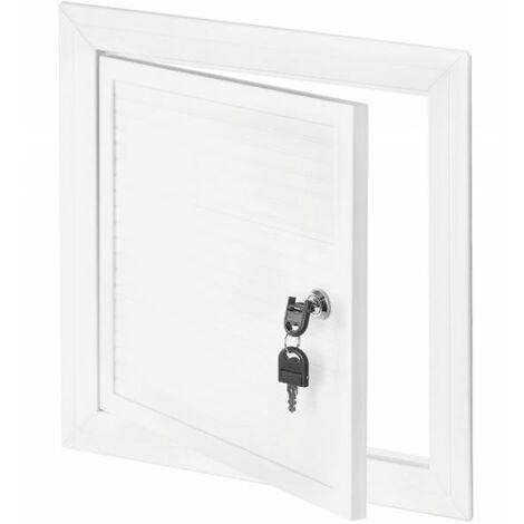 250x350mm Blanc PVC Couvercle Chambre D'inspection Panneau Accès Serrure Clé